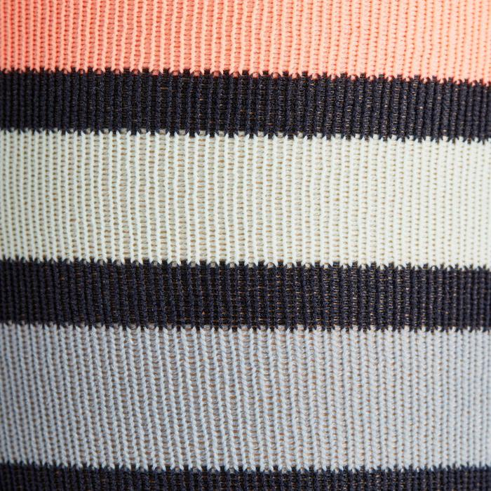 Calcetines equitación adulto SKS100 azul marino con rayas rosas x 1 par