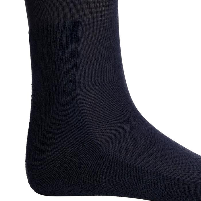 Chaussettes équitation adulte 100 marine/rayures roses