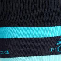 جوارب ركوب الخيل للأطفال SKS100 زوج واحد-أزرق فاتح/ خطوط تركواز