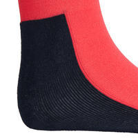 100 Girls' Horseback Riding Socks - Pink/Turquoise Stripes