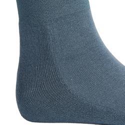 Medias calcetines equitación niña 500LIGHT Gris azulado x 1 par