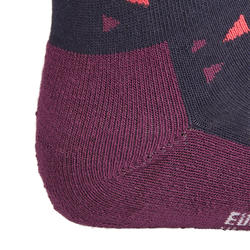 500 Girls' Horseback Riding Socks Twin-Pack - Navy/Pink