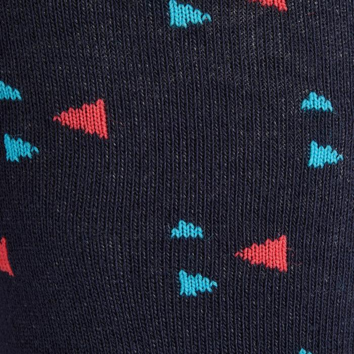 Calcetines equitación niña 500 GIRL azul marino y turquesa x2