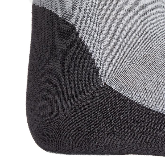 Reitsocken 500 Grip Damen grau mit dunkelgrauem Silikonpatch