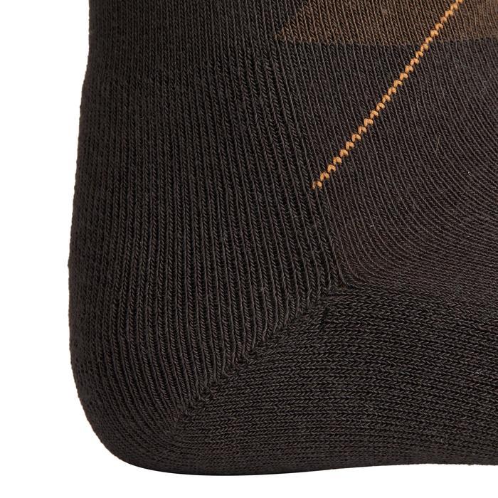 Calcetines equitación adulto ROMBOS marrón y gris x2 pares