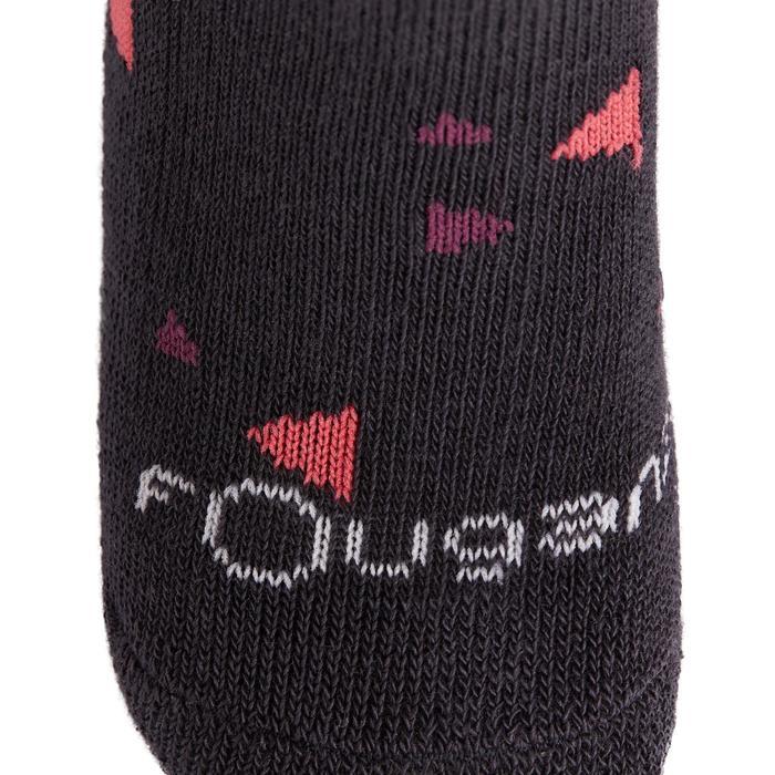 Chaussettes équitation 500 BABY rose et marine mini motifs x2 - 1240204