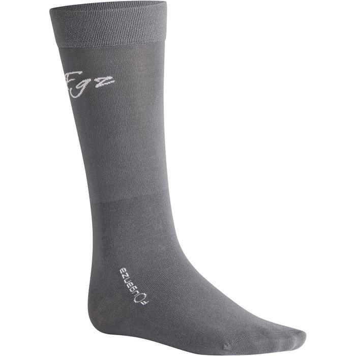 Bas chaussette équitation adulte 500LIGHT gris x1