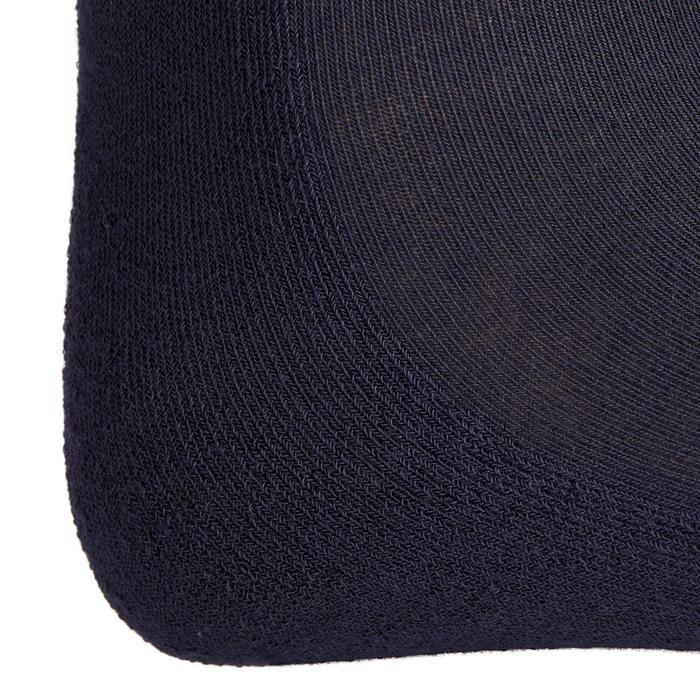 Bas chaussette équitation adulte 500LIGHT marine x1