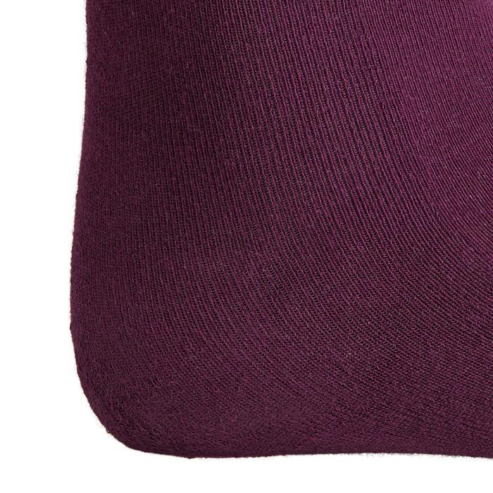 Bas chaussette équitation femme 500LIGHT prune x1