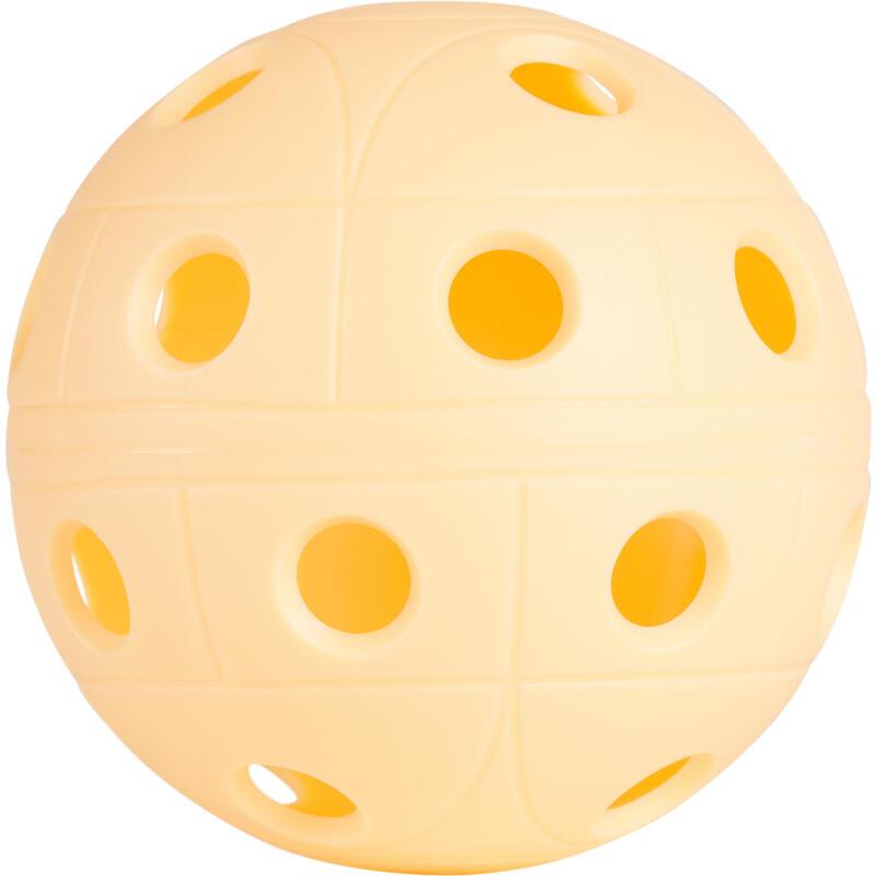 BALLE FLOORBALL 500 ABRICOT