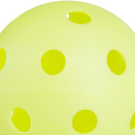 BALLE FLOORBALL 100 VERT NÉON