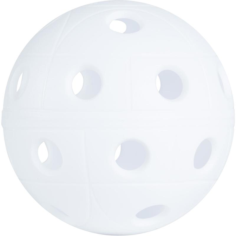 BALLE FLOORBALL 500 BLANC