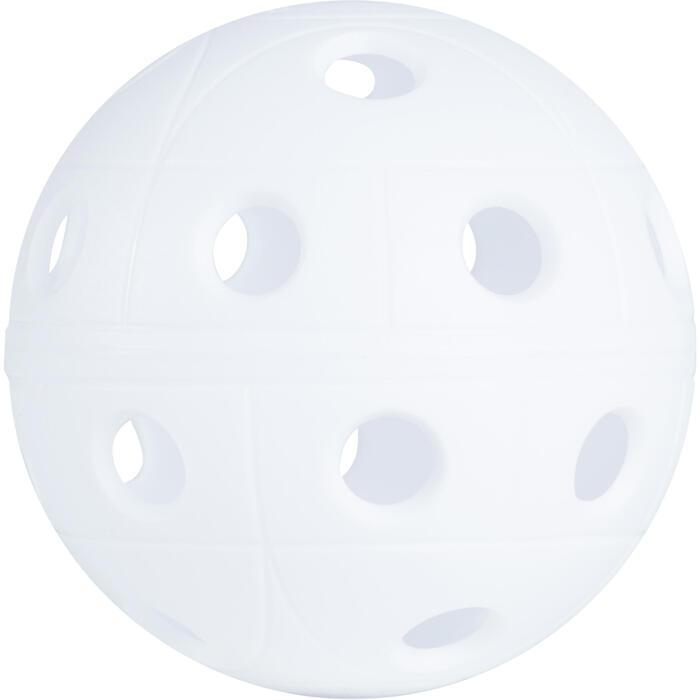 Floorball Unihockey-Ball 500 weiß