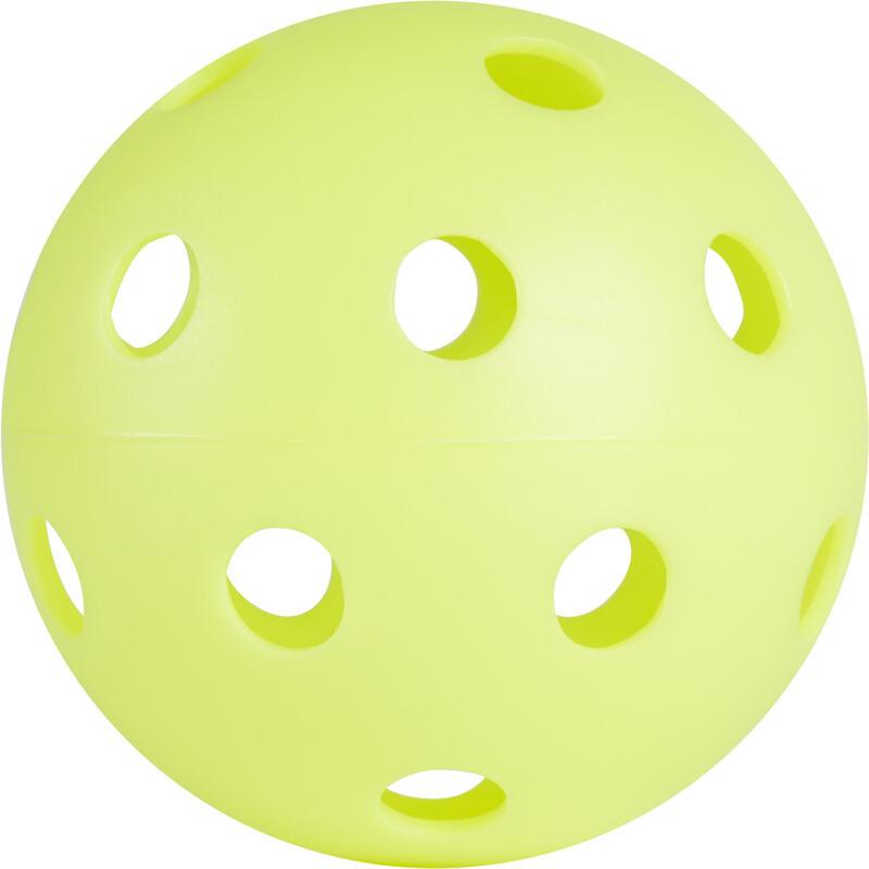 BALLE FLOORBALL 100 VERT NEON