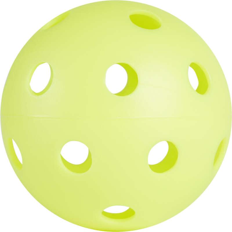 Floorball Monopattini, Roller, Skate - Palla floorball 100 verde neon OROKS - Hockey su ghiaccio