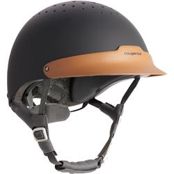 120 Horse Riding Helmet - Grey/Tan