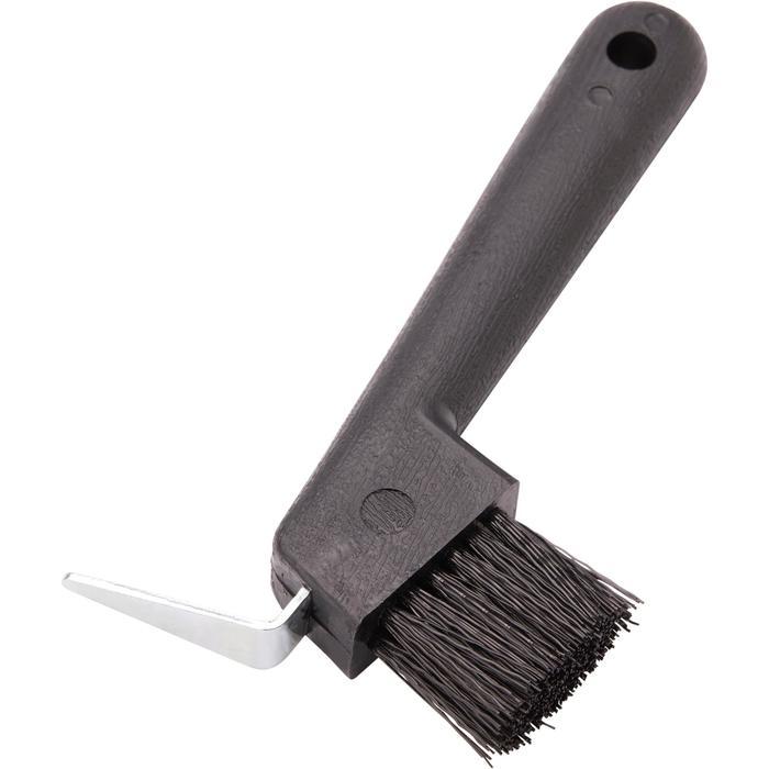 Cure-pied brosse équitation noir