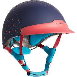120 Horseback Riding Helmet - Pink/Navy/Blue