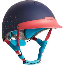 C120 Horse Riding Helmet - Pink/Navy/Light Blue