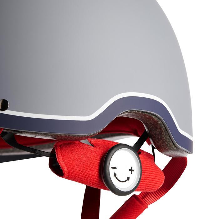 Casco equitación C120 gris/rojo