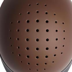 Casco equitación C120 marrón/negro