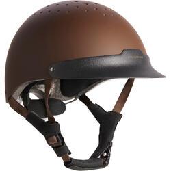Casque équitation C120 marron/noir