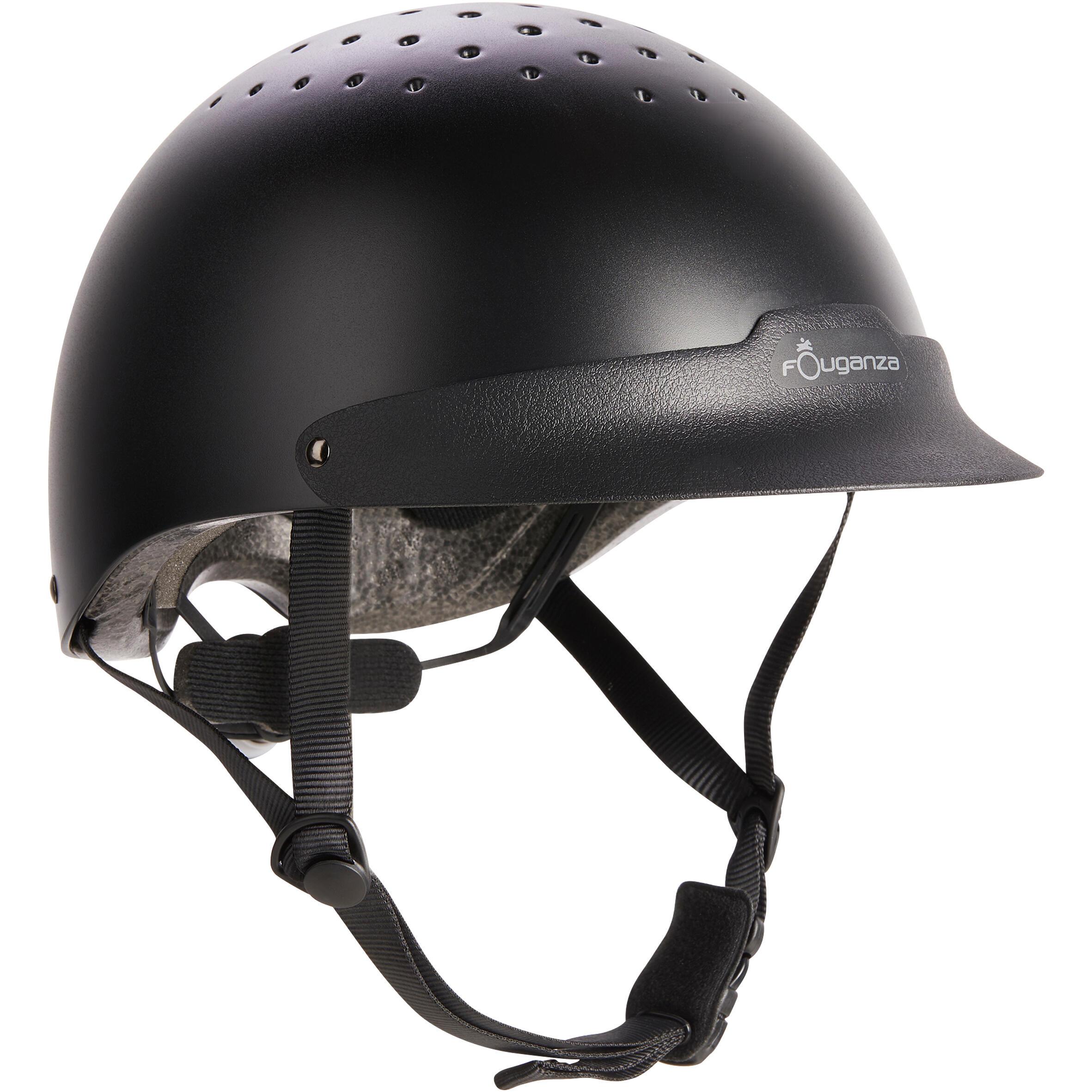 Fouganza Paardrijcap C100 zwart