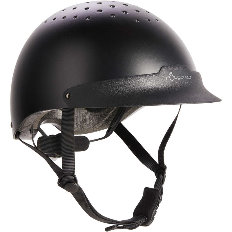 RIDER HELMETS - 100 Helmet - Black FOUGANZA