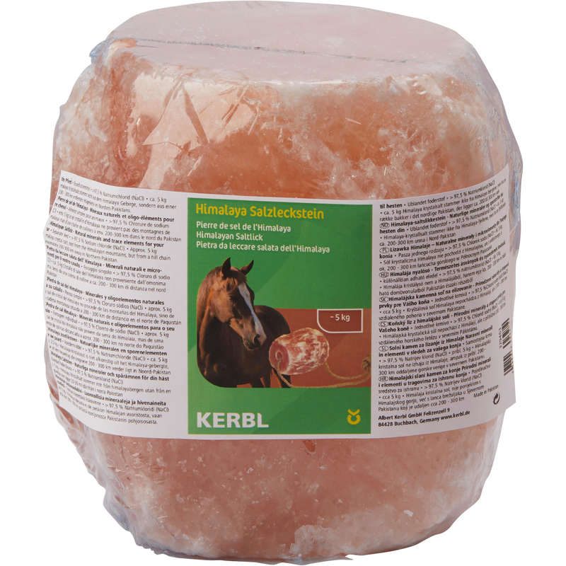 HORSE SUPPLEMENTS Horse Riding - Himalaya 5kg Salt Lick KERBL - Horse Stable and Yard