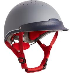 Paardrijcap C120 grijs/rood