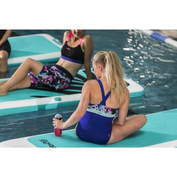 Bañador una pieza para mujer de aquabike resistente al cloro Anna negro