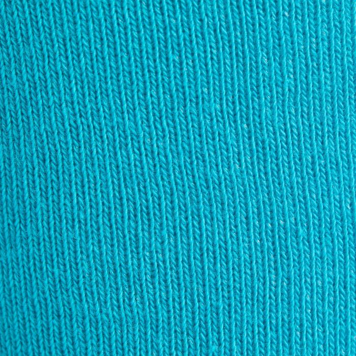 Reitsocken 500 Jungen 2er-Paar marineblau/türkis