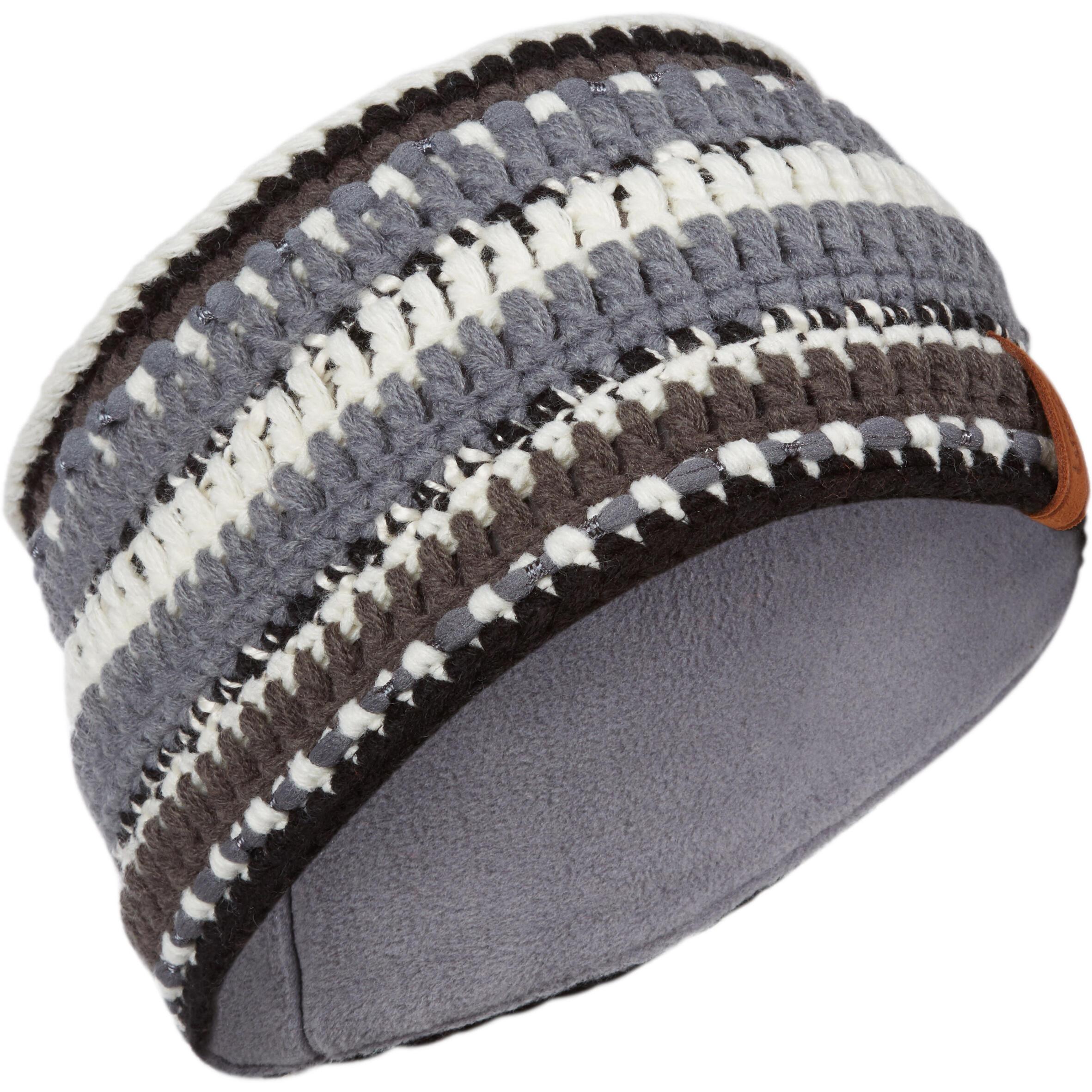 Stirnband Mixyarn Erwachsene schwarz/weiß | Accessoires > Mützen > Stirnbänder | Schwarz - Grau | Wed´ze