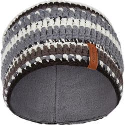 Ski hoofdband voor volwassenen Mixyarn zwart wit