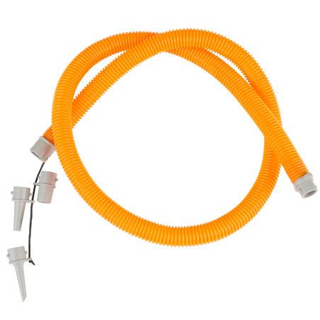 Ручний насос для байдарки, двосторонньої дії, 2x1,4 л - Помаранчевий