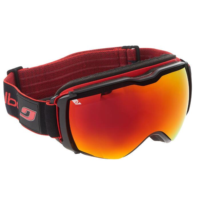 Ski- en snowboardbril Airflux mooi weer zwart/rood