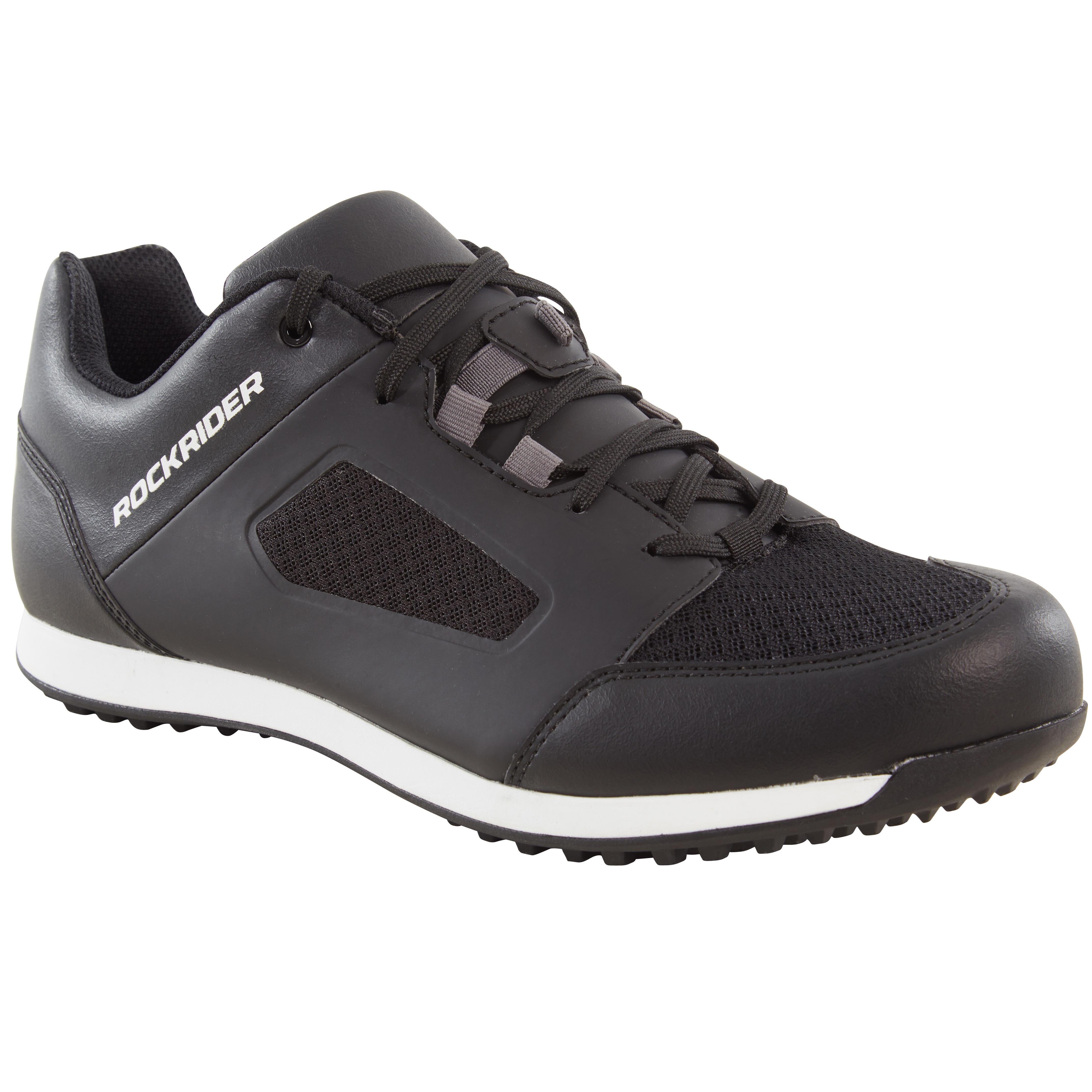 Fahrradschuhe MTB ST 100 schwarz | Schuhe > Sportschuhe > Fahrradschuhe | Schwarz - Grau - Weiß | St | Rockrider