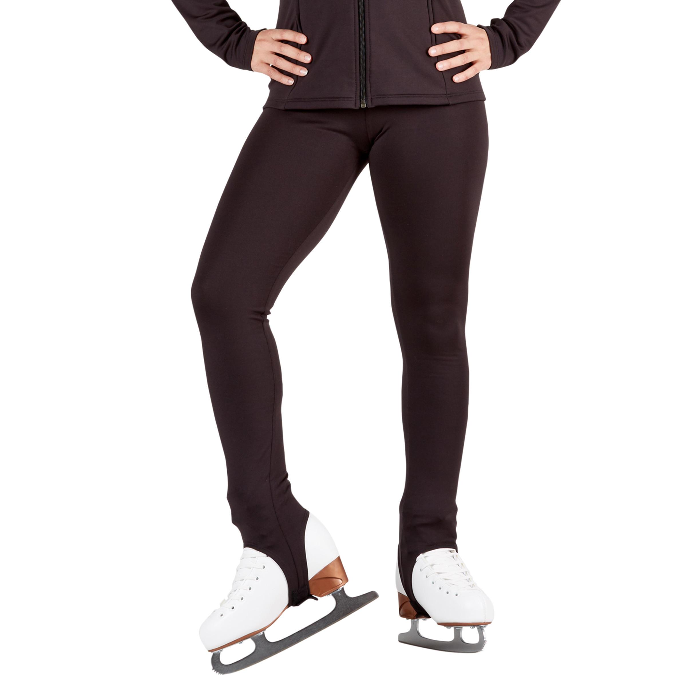 Adult Figure Skating Training Bottoms - Black