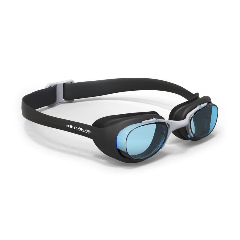 Zwembril met heldere glazen X-Base maat L zwart