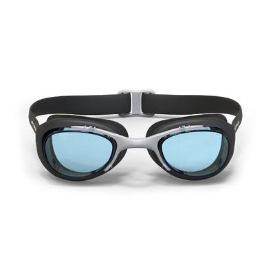 SWIMMING GOGGLES XBASE L CLEAR LENSES - BLACK
