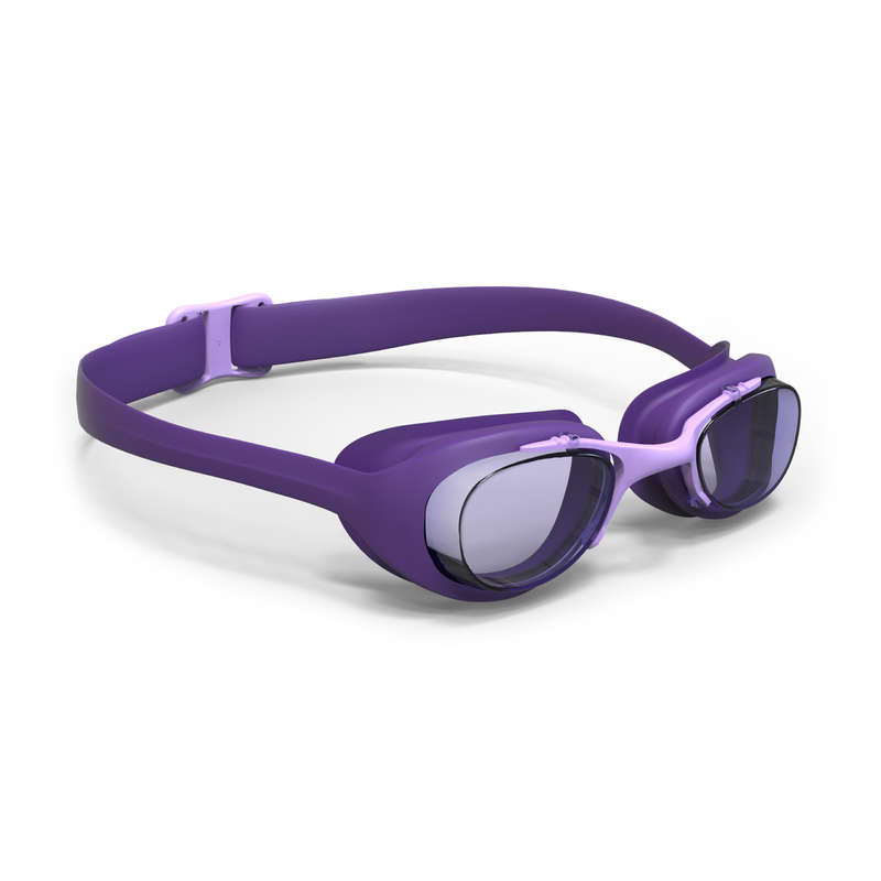 SWIMMING GOGGLES OR MASKS Swimming - XBASE Swimming Goggles Adult Purple NABAIJI - Swimming Accessories