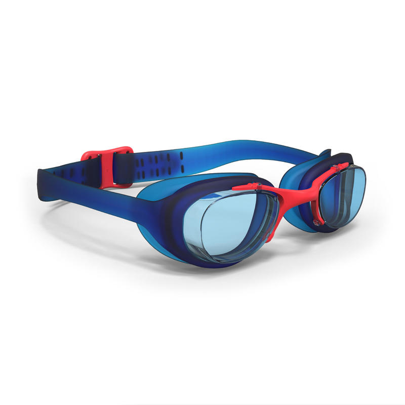 100 XBASE Swimming Goggles, Size S - Blue Red