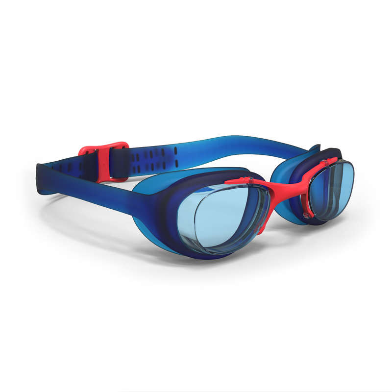 SWIMMING GOGGLES OR MASKS Swimming - XBASE Swimming Goggles Junior Blue Red NABAIJI - Swimming Accessories