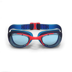 Lunettes de natation 100 XBASE Taille P bleu rouge
