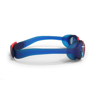 Lunettes de natation 100 XBASE Taille S bleu rouge