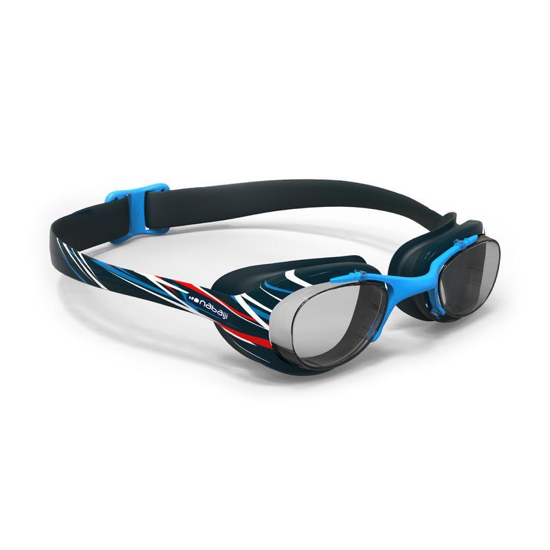 Lunettes de natation 100 XBASE PRINT Taille G MIKA bleu