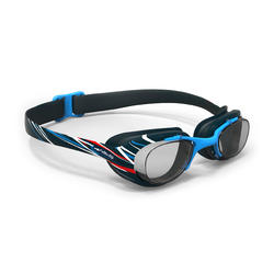 100 XBASE PRINT Swimming Goggles, Size L - MIKA Blue