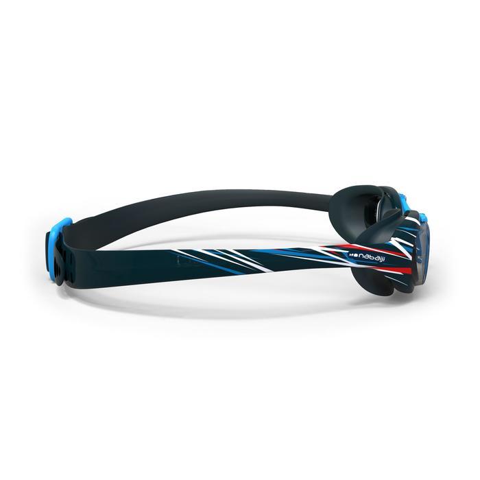 Zwembril 100 X-Base print L Mika blauw