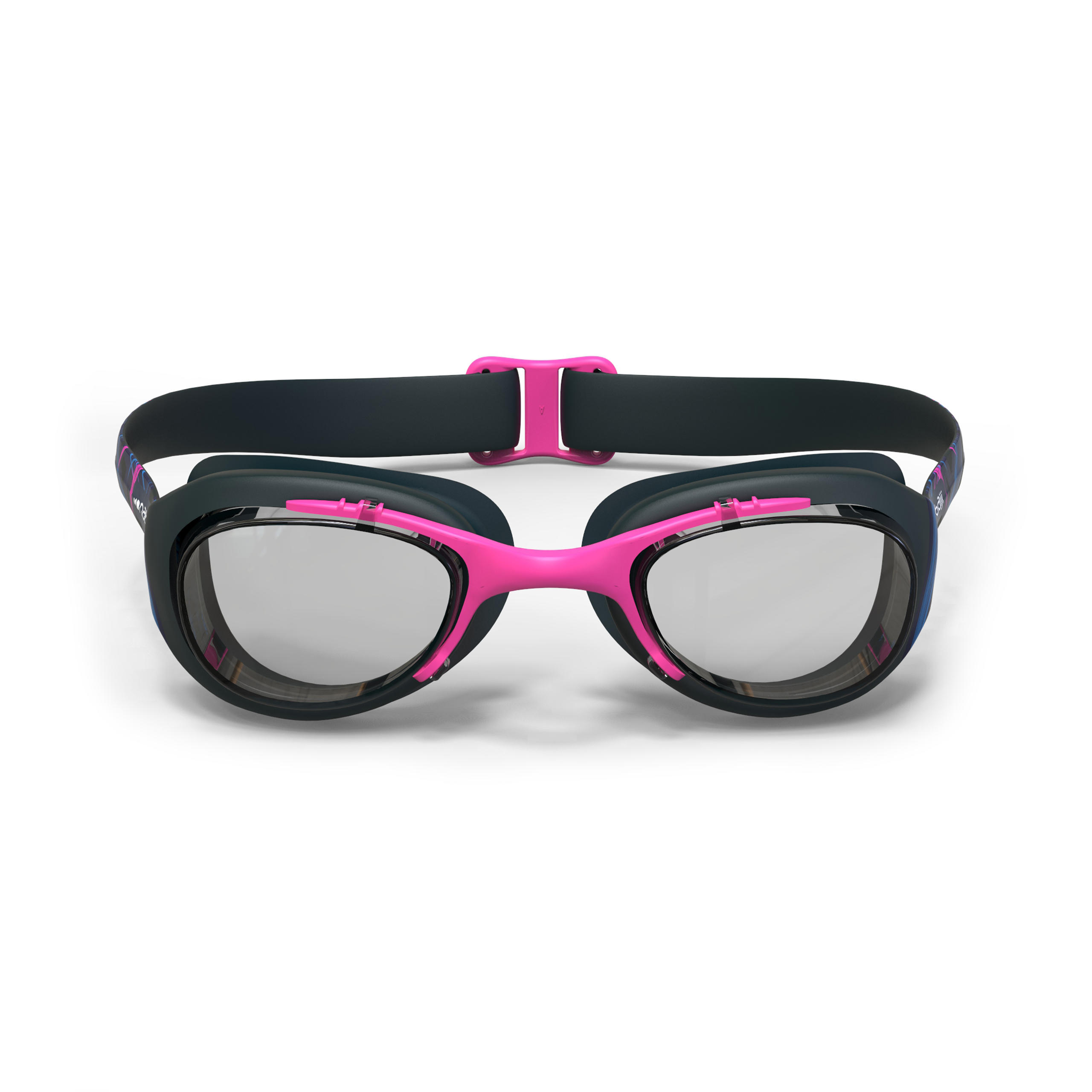 แว่นตาว่ายน้ำรุ่น Xbase Print ขนาด L (สีฟ้า Opi)