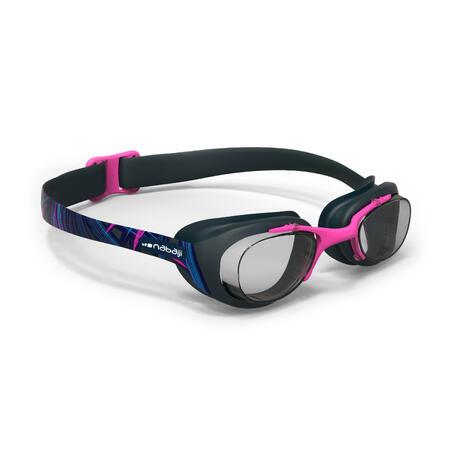 100 XBASE PRINT Swimming Goggles, Size L - OPI Blue Pink